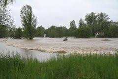 Fleuve d'inondation Photo stock