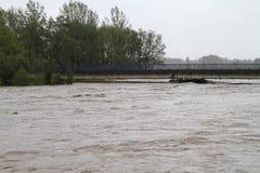Fleuve d'inondation Photographie stock