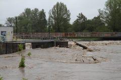 Fleuve d'inondation Photos libres de droits