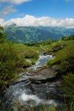 Fleuve dans la montagne Images libres de droits