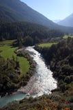 Fleuve dans les Alpes Photographie stock libre de droits