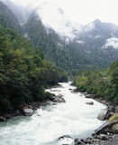 Fleuve dans les montagnes Photos libres de droits