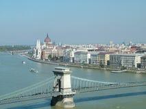 Fleuve Danube à Budapest Images libres de droits