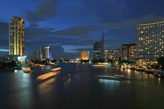 Fleuve de Bangkok Images libres de droits
