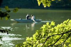 fleuve de bateau Photo stock