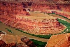Fleuve de Canyonland au cheval mort Image stock