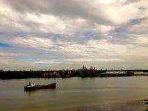Fleuve de Chao Phraya Photos stock