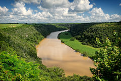 fleuve de chavon tropical Photographie stock