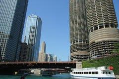 Fleuve de Chicago photo stock