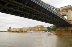 Fleuve de Danube du Parlement Budapest photographie stock libre de droits
