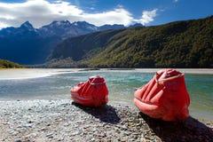 Fleuve de dard, Glenorchy, Nouvelle Zélande Images libres de droits