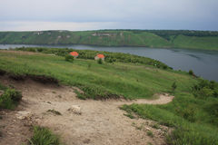 Fleuve de Dniester, Bakota, Ukraine Photographie stock