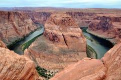 fleuve de fer à cheval de gorge du Colorado de gorge de courbure Photo libre de droits