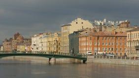 Fleuve de Fontanka à St Petersburg Images libres de droits