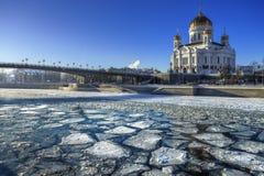 Fleuve de glace Photo libre de droits
