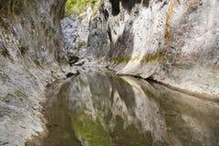 Fleuve de gorge de pierre à chaux en montagnes Photo libre de droits