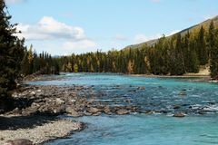 fleuve de kanas Image libre de droits