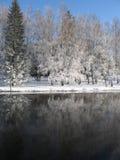 Fleuve de l'hiver Photographie stock libre de droits