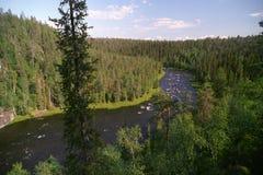 Fleuve de la Laponie Photos libres de droits