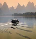 Fleuve de Li - province de Guangxi - la Chine Photographie stock