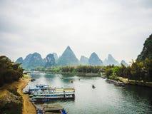 Fleuve de Li, Yangshuo, Chine Photos stock