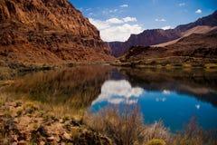 fleuve de lie de bac de croisement du Colorado photographie stock libre de droits