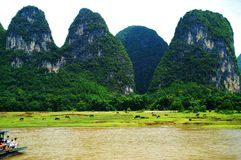 Fleuve de Lijiang, Guilin, Chine Photos stock