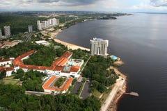 fleuve de Manaus de ville d'Amazone photo libre de droits