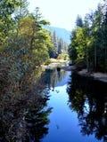 Fleuve de Merced chez Yosemite Photographie stock libre de droits