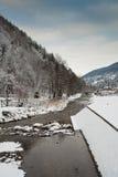 Fleuve de montagne en hiver photo libre de droits
