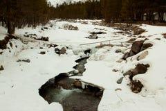 Fleuve de montagne en hiver Photo stock