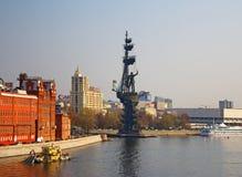 Fleuve de Moscou Remblai de Bersenevskaya, Photo stock