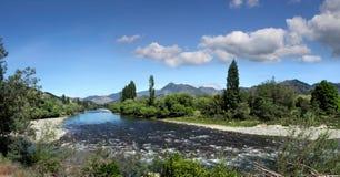 Fleuve de Motueka dans le district de Tasman Image libre de droits