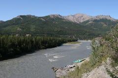 Fleuve de Nenana, Alaska Photographie stock