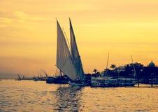 Fleuve de Nil en Egypte images libres de droits