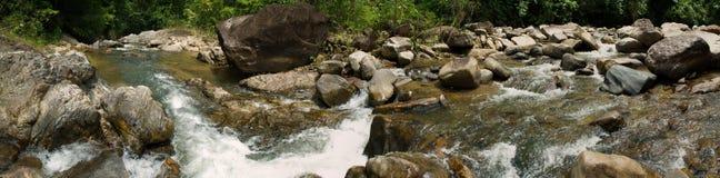 fleuve de panorama pierreux Image libre de droits