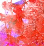 fleuve de peinture à l'huile d'horizontal de forêt Images stock