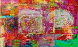 fleuve de peinture à l'huile d'horizontal de forêt Image stock