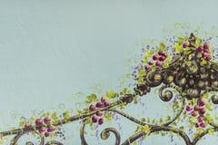 fleuve de peinture à l'huile d'horizontal de forêt Photographie stock