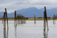 Fleuve de PEND Oreille avec des montagnes de Selkirk Images libres de droits