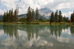 Fleuve de proue chez Banff, Alberta, Canada Image libre de droits