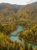 fleuve de S-forme Image stock