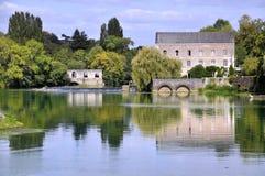 Fleuve de Sarthe en France images libres de droits