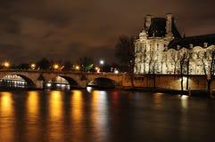 Fleuve de Seine à Paris Photos stock