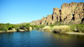 Fleuve de sel, Arizona Photographie stock libre de droits