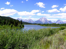Fleuve de serpent, Wyoming Photos stock