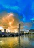 Fleuve de Singapour Photos stock