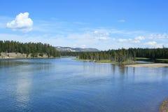 Fleuve de stationnement national de Yellowstone Photos stock