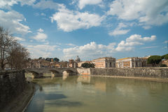 Fleuve de Tiber, Rome, Italie Photos libres de droits