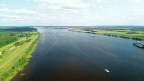Fleuve de Volga, Russie banque de vidéos